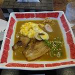 たまゆら - 味噌カレー拉麺(焼豚とスクランブルエッグ)