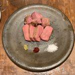 Genkabisutoroban - 牛タンのトリミングステーキ(100g) ¥1,100