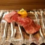 119710406 - 極上生肉のタルタル キャビア添え