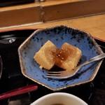 博多 赤らく - デザートのわらび餅。黒蜜がかっかています。