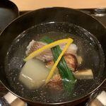 119712906 - 椀物                         ・甘鯛、松茸、静御前(京丹後産大根)のお吸い物
