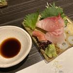 くずし割烹 和dining 一昇 - お造り三種盛り 鯛、鰤、蛸
