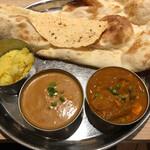 インド料理ムンバイ四谷店+The India Tea House - 海老とマッシュルーム、野菜