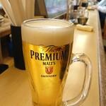炭火串焼まるよし - 生ビール 480円