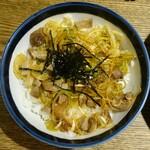 麺部しば盛 - ネギご飯
