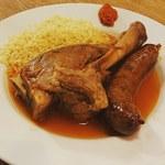 琴似バル - 仔羊スネ肉の煮込みと仔羊ソーセージのクスクス
