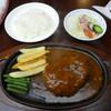 レストラン ジロー - 料理写真:ジャンボハンバーグ1200円+セット(ライスorパンと飲み物)300円