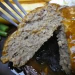 レストラン ジロー - ひき肉中心の肉々しいハンバーグ