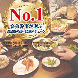 宴会幹事が選ぶ満足度の高い居酒屋チェーンNo1和民・坐和民!