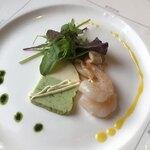 ケイジーノ - 料理写真:前菜 海老とイカのマリネ ほうれん草のテリーヌ