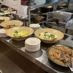 わら焼き酒場 龍神丸 - 御惣菜、お好きなもの2種チョイスしセルフで盛り付け