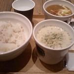 11975224 - スープストックセット900円(牡蠣のポタージュ+ゴッホの玉葱のスープ)