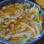 大勝軒 しのや - 野菜もりそば(麺半分)