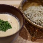 神宮の蕎麦 - 豆乳担々麺