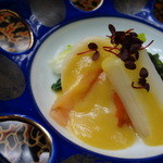 相見屋 - ホタテと赤貝のカラシ酢味噌あえ