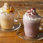 フリーマン カフェ - スイートポテトラテと紫芋ラテ