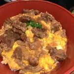119762852 - 牛すじ卵とじ丼