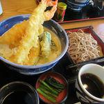 そじ坊 - 天丼とザル蕎麦セット