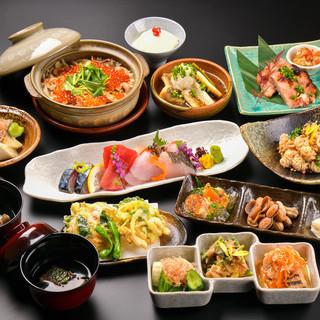 銘々盛りの充実の旬のお料理コースは2,500円~!