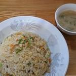 東園 - 料理写真:焼めしとスープ。