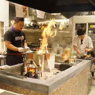 長野では珍しい素材を焼き上げる「原始焼き」