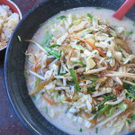 長秀龍 - 料理写真:野菜白胡麻担々麺(大盛)+ミニチャーハン