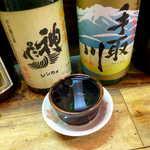 弁慶  - 冷酒「神亀」純米・辛口(¥650)。埼玉県蓮田市の地酒、バランスの取れた味わいで気に入った