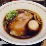 清麺屋 - 【ポンバシブラック + 熟鮮玉子】¥780 + ¥100