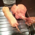 串鉄 - 料理写真:鶏ササミ、鶏チューリップ