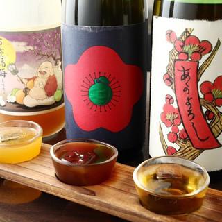 なんといっても梅酒の種類が豊富‼‼