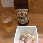 中華そば ムタヒロ - ●煮干味玉そば900+中瓶ビール550=1,450円 2019年11月