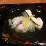 御料理 古川 - 鱧と松茸