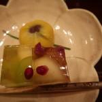 御料理 古川 - 果物と和菓子