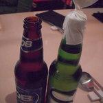 韓豚屋 - OBビール・・・と カス 韓国ビール達