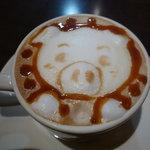THE CAFE - ☆ブタさんのデザインカプチーノ可愛いです♪☆