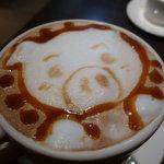 THE CAFE - ☆飲んじゃうぞぉ~ブタさんのキャラメルラテ☆