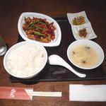 石庫門 - 辣子鶏 ランチセット
