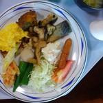 サンセットリゾート - 朝食バイキングの一例