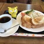 喫茶クッキー - 玉子サンドモーニング380円(税込)