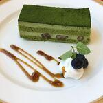 オークラカフェ&レストラン メディコ - 本日のケーキは抹茶のケーキ