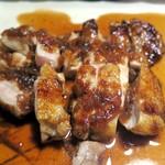 福島郷土料理 居酒屋なべちゃん - 若鶏のステーキ~自家製シャリアピンソース~