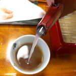 萩の茶屋 - 蕎麦湯は粘り少なくナチュラルで、さらっといただけるもの