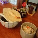 119805561 - 天ぷら(小)+炊き込みごはん