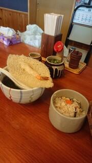 龍 - 天ぷら(小)+炊き込みごはん