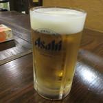 宿房 あそ - 【生ビール(アサヒ) 580円】