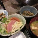 宿房 あそ - 【サラダ・味噌汁・お浸し・ひこずる】