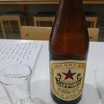 エソラ - 瓶ビール(赤星)