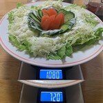 銀華亭 - 「サラダ」総重量(実測値)360g。