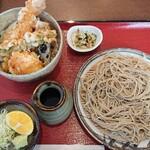蕎麦 みずき - 料理写真:きまぐれランチB  大海老が大きすぎて写真におさまりませんでした