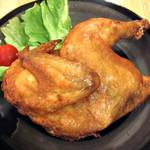 とり丸亭 - 料理写真:道産若鶏半身揚げ    皮はパリパリお肉はジューシー